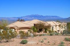 USA, Arizon: Modern House in a Desert royalty free stock photography