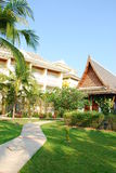 House design and garden in thailand Stock Images