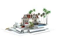 House design progress, architecture  visualization Stock Images