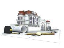 House design progress stock illustration