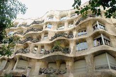House designed by Gaudi in Barcelona, Spain Royalty Free Stock Image