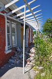 House Destroyed by Christchurch Earthquake Royalty Free Stock Photos
