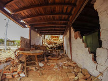 House Destroyed By Earthquake, Ecuador, South America Stock Image