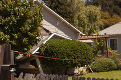 House destroyed by earthquake Napa Valley Stock Photo