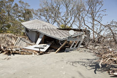 House destroyed by flood Stock Photos