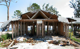 House Destroyed By Hurricane. A house gutted by Hurricane Ivan sits vacant by the coast stock image