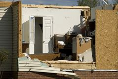 House Destroyed by Tornado Royalty Free Stock Photography