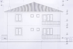 House Detailed Plan Stock Photo