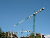 House develop with crane Stock Image