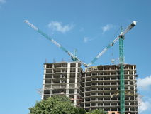 House develop with crane Royalty Free Stock Image