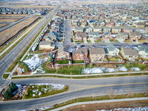 House development aerial view Royalty Free Stock Photography