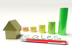 House with diagram Royalty Free Stock Images