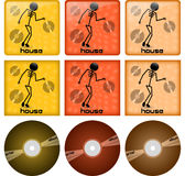 House disc covers Royalty Free Stock Photos