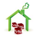 House discount percentage. illustration design. Over white stock illustration