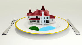 House on dish Royalty Free Stock Photos