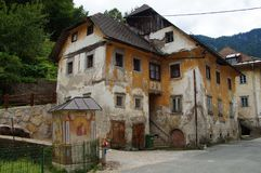 House in Disrepair. Old south European house in Disrepair Stock Photo