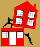 House divorce. Painful fight over the family home during a divorce Stock Photo
