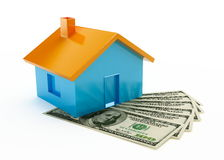 House and dollar Stock Photos
