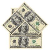 House of dollar bills. On a white background Royalty Free Stock Images