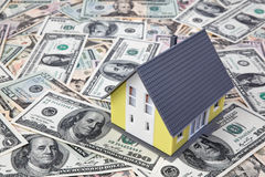 House on dollar bills Stock Photography