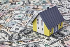 House on dollar bills Stock Images