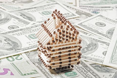 House on the dollar bills Stock Photography