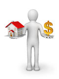 House And Dollar Sign. Stock Image