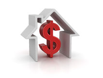 House and dollar sign Royalty Free Stock Photography