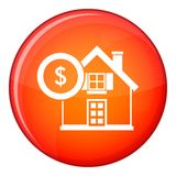 House and dollar sign icon, flat style Royalty Free Stock Photos