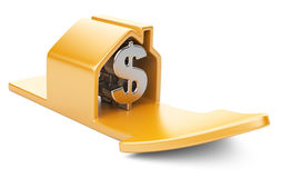 House with dollar sign and rising arrow Stock Images
