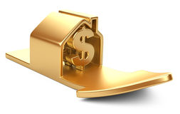 House with dollar sign and rising arrow Stock Image