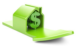 House with dollar sign and rising arrow Stock Photo