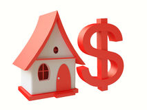 House With Dollar Symbol Stock Photography