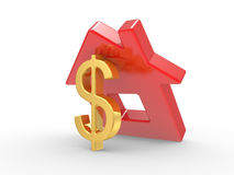 House and dollar symbol Royalty Free Stock Photo