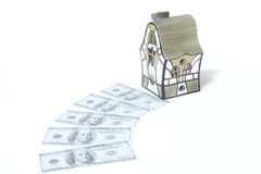 House and dollars Stock Image