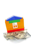 House with dollars Stock Photography