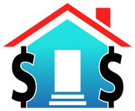 House with dollars. Illustrated image Stock Photos