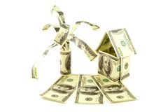House from dollars Royalty Free Stock Photography