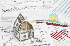 House of dollars. on chart background Stock Photography