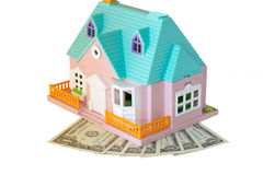 House and dollars Royalty Free Stock Photos