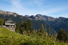 House in the Dolomites, Italy Stock Photography
