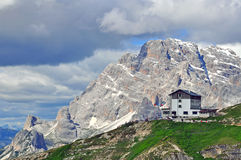 House in Dolomites Royalty Free Stock Photo