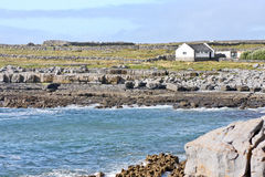 House on Doolin beach, county Clare, Ireland Royalty Free Stock Images
