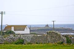 House on Doolin beach, county Clare, Ireland. Doolin`s Bay, The Burren, County Clare, Ireland Royalty Free Stock Photography