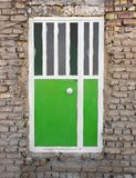 House door. Simple cheap house iron door Royalty Free Stock Photography