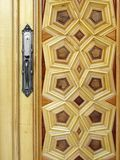 House door. Close-up of house wooden door Royalty Free Stock Photography