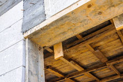 House door construction detail Royalty Free Stock Photos
