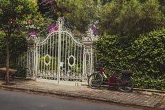 House door with garden Stock Photos