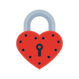 House door heart lock access equipment icon vector safety password privacy element with key and padlock protection Stock Image