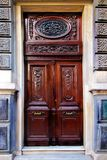A House Door in Istanbul, March 2019 Spring Time in Turkey royalty free stock images